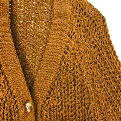 raglan twist cardigan brown